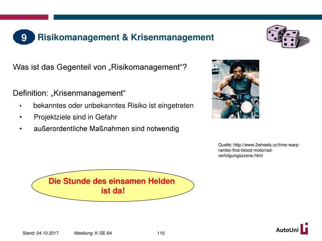 Risikomanagement & Krisenmanagement