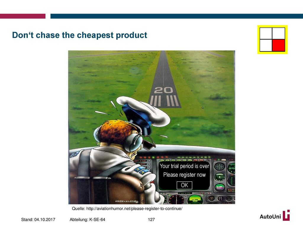 Don't chase the cheapest product