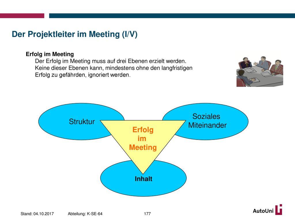 Der Projektleiter im Meeting (I/V)
