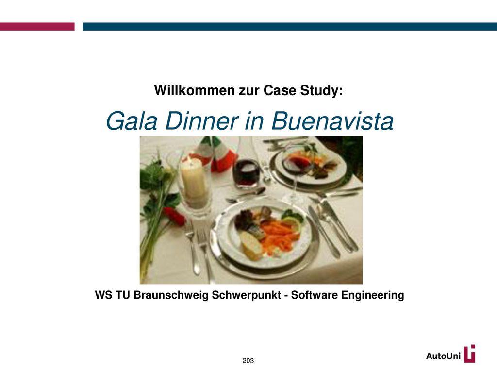 Willkommen zur Case Study: Gala Dinner in Buenavista