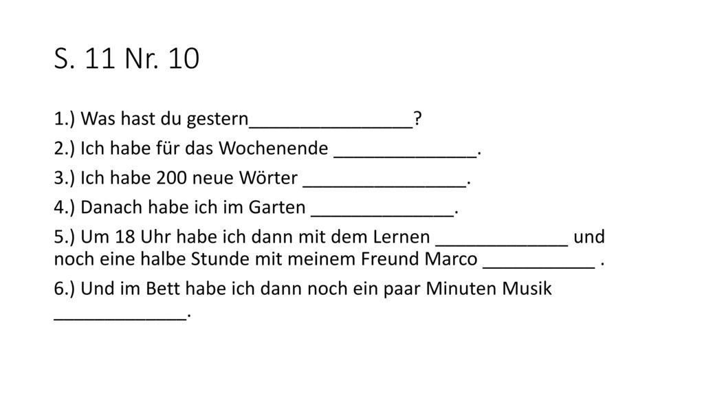 S. 11 Nr. 10