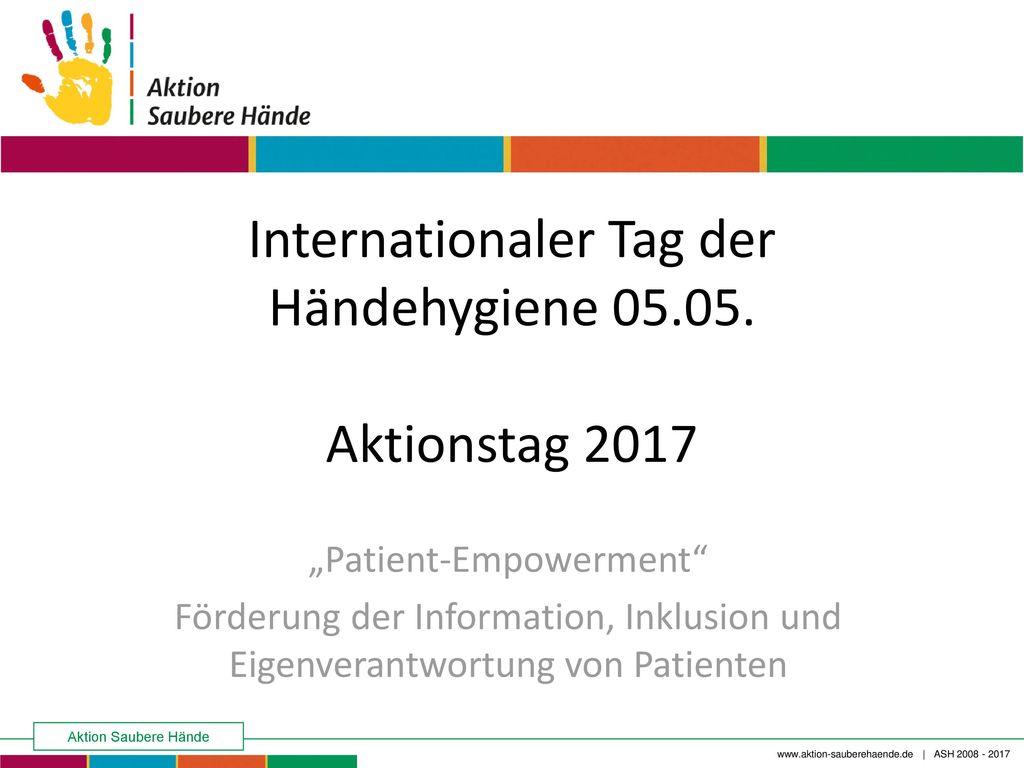 Internationaler Tag der Händehygiene 05.05. Aktionstag 2017