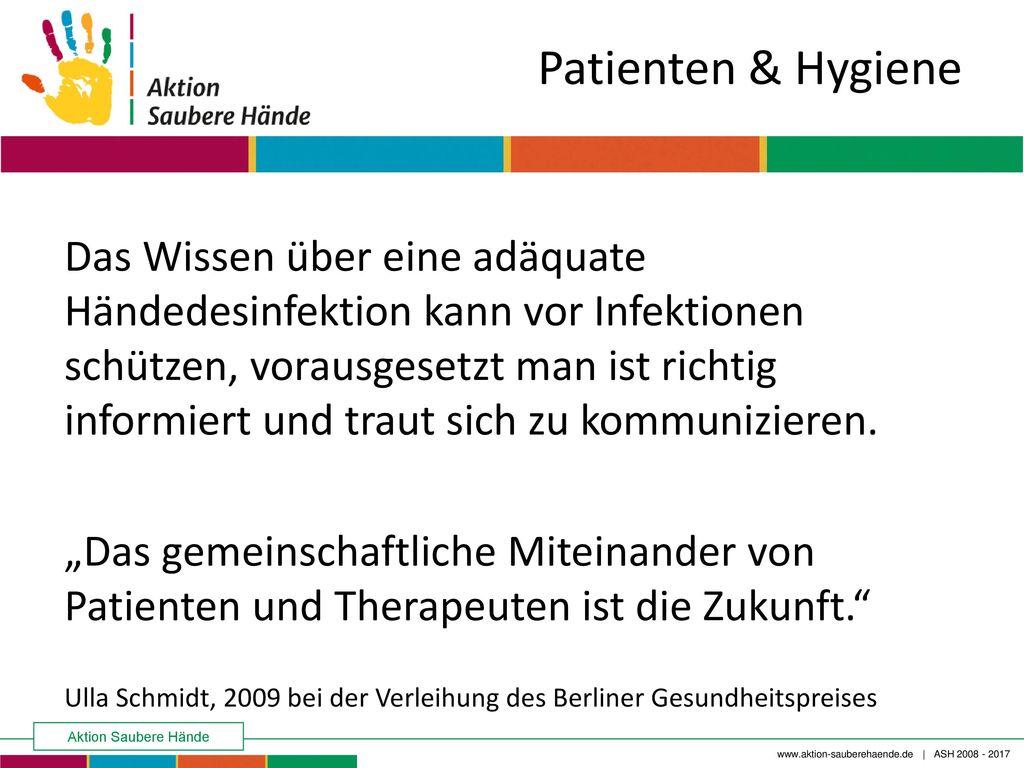 Patienten & Hygiene