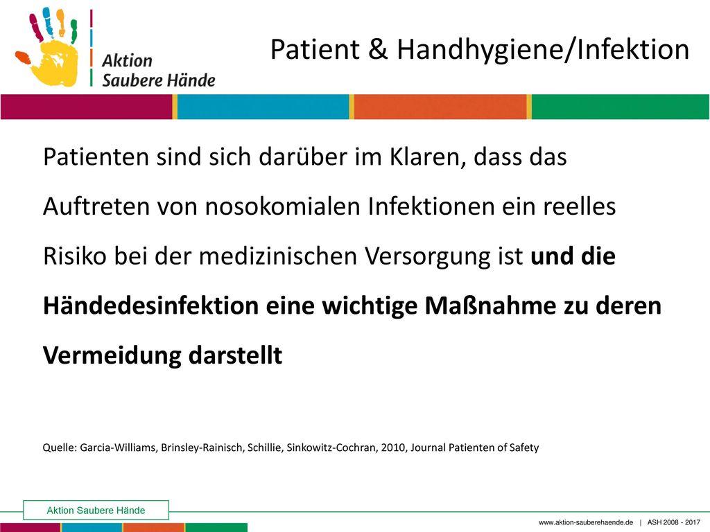 Patient & Handhygiene/Infektion