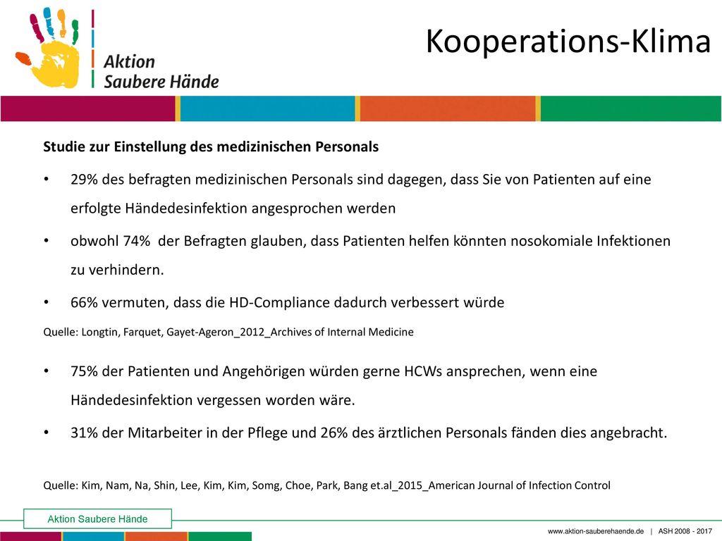 Kooperations-Klima Studie zur Einstellung des medizinischen Personals