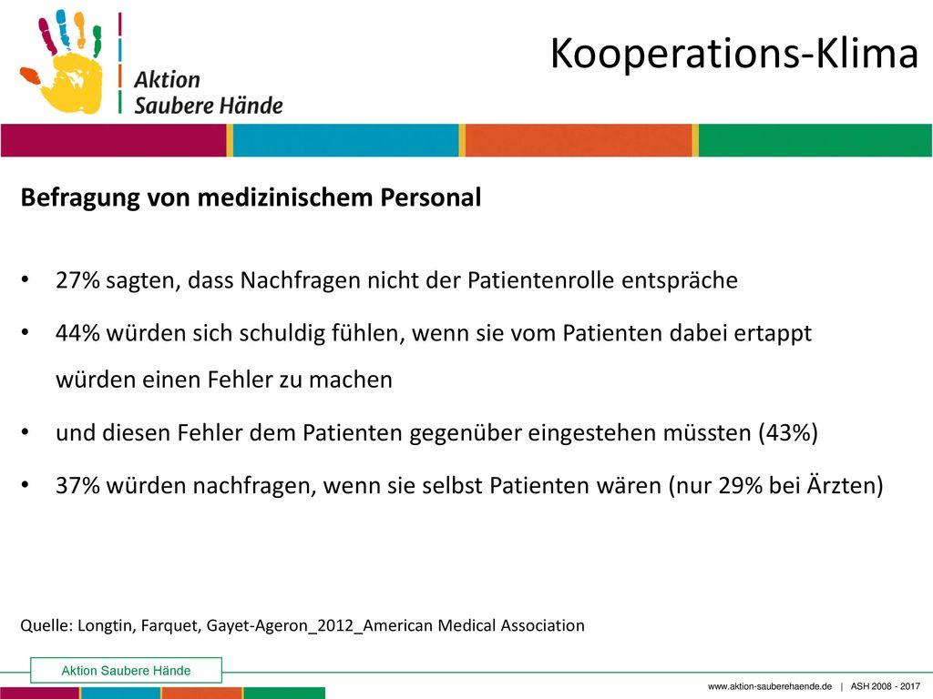 Kooperations-Klima Befragung von medizinischem Personal