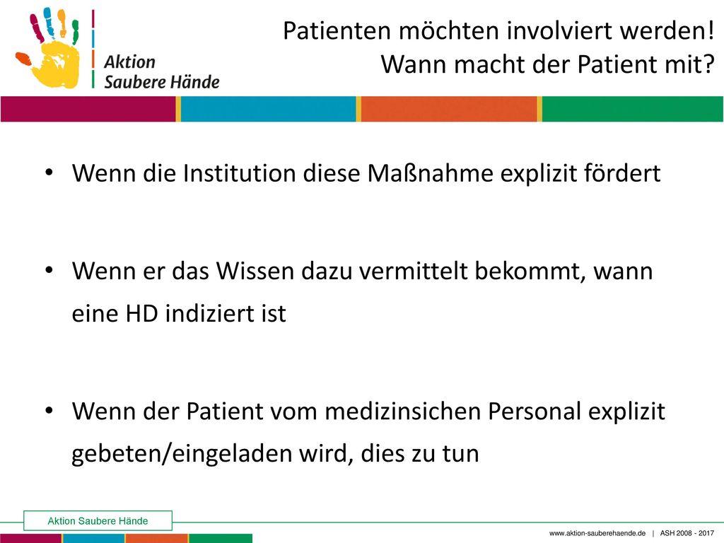 Patienten möchten involviert werden! Wann macht der Patient mit