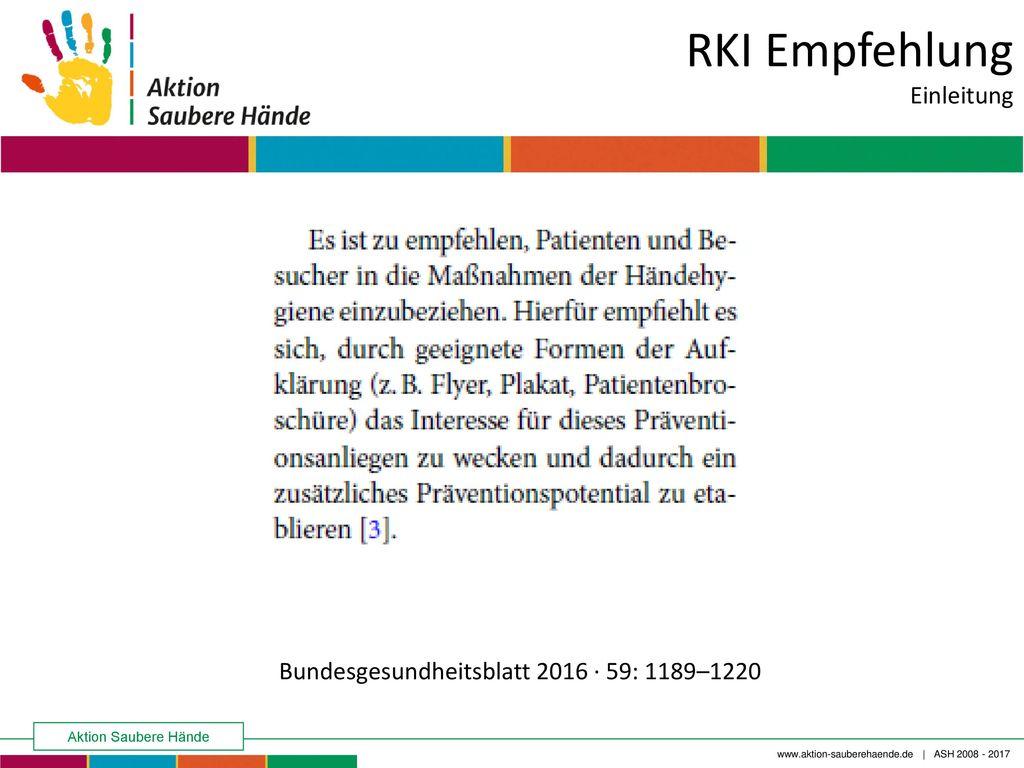 RKI Empfehlung Einleitung