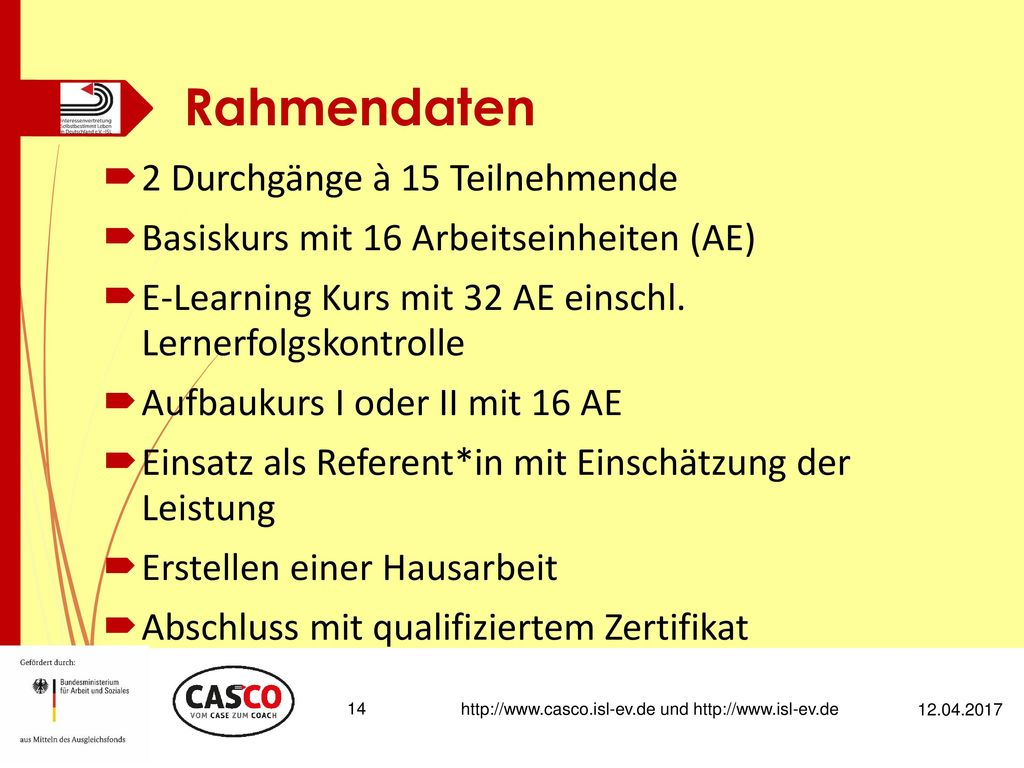 http://www.casco.isl-ev.de und http://www.isl-ev.de