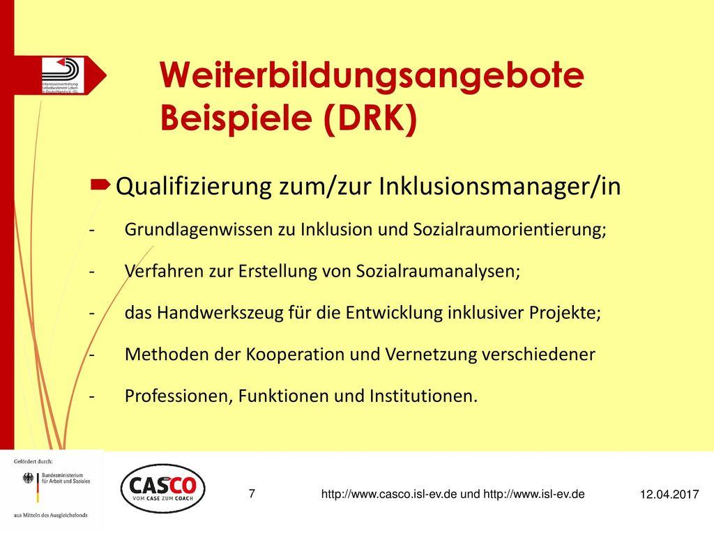Weiterbildungsangebote Beispiele (DRK)