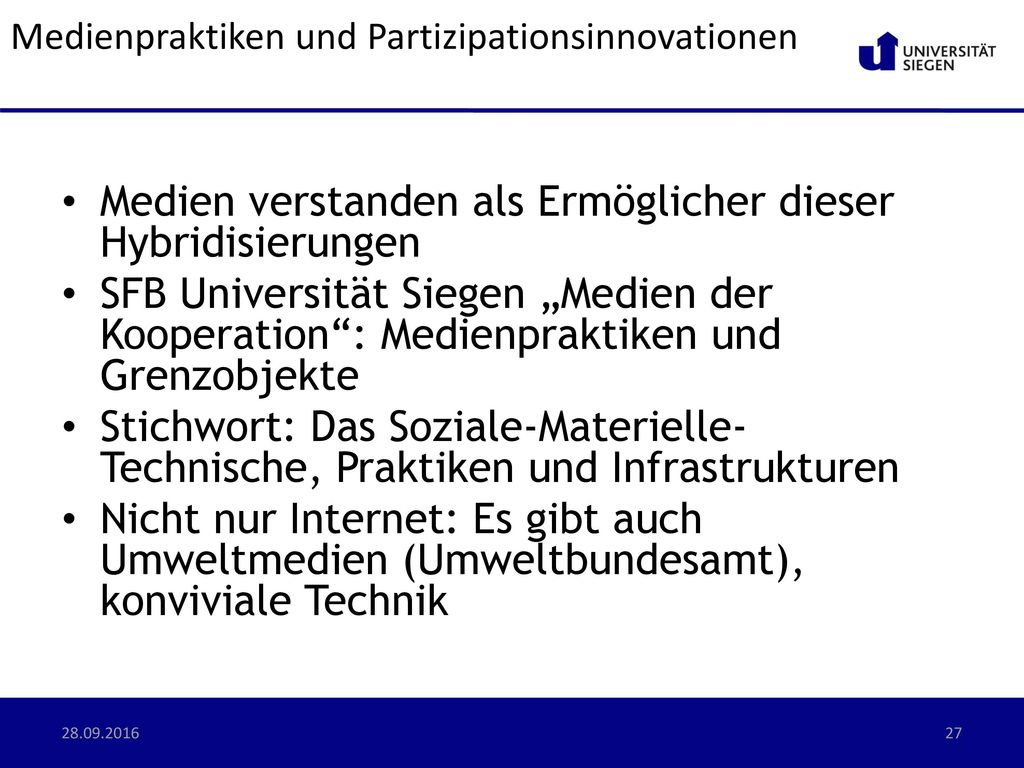 Medienpraktiken und Partizipationsinnovationen