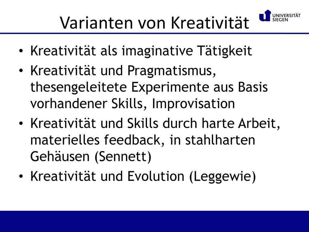 Varianten von Kreativität