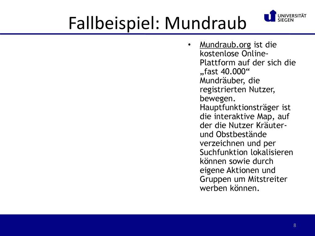 Fallbeispiel: Mundraub
