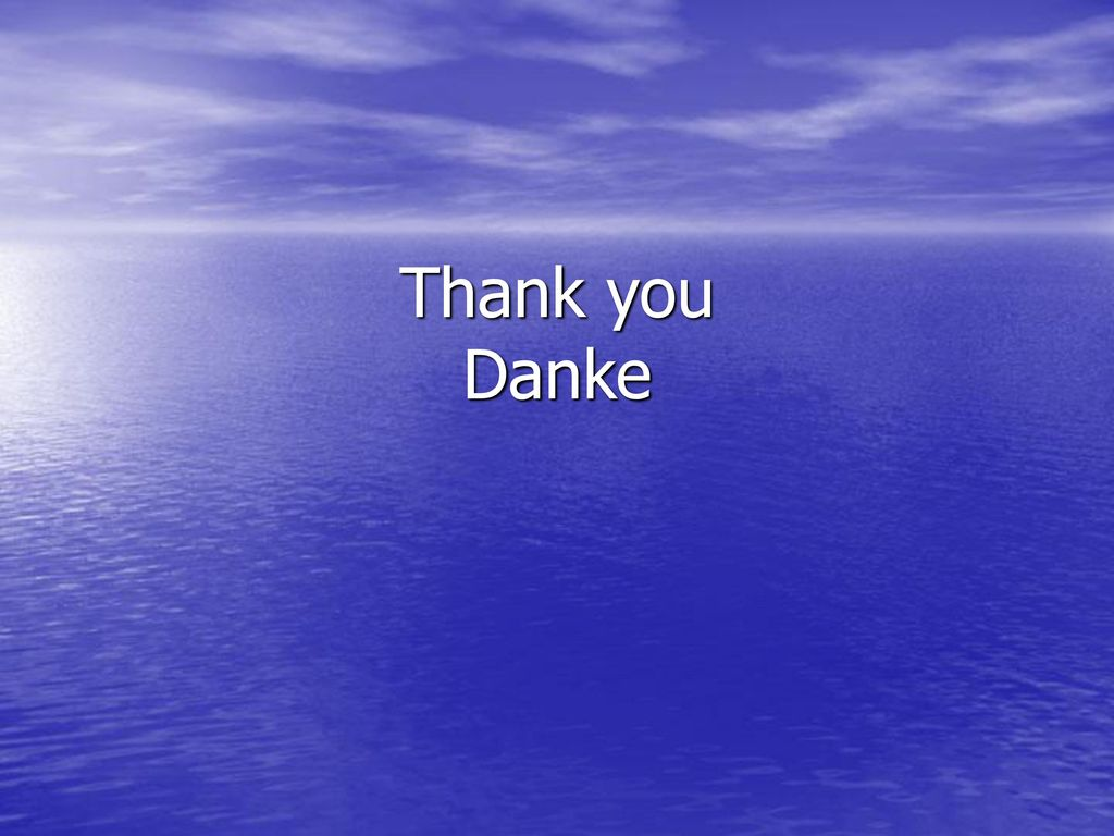 Thank you Danke