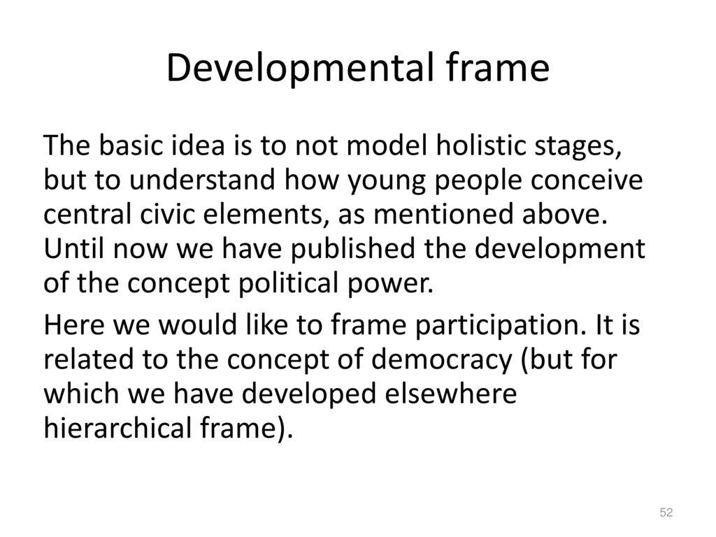 Developmental frame