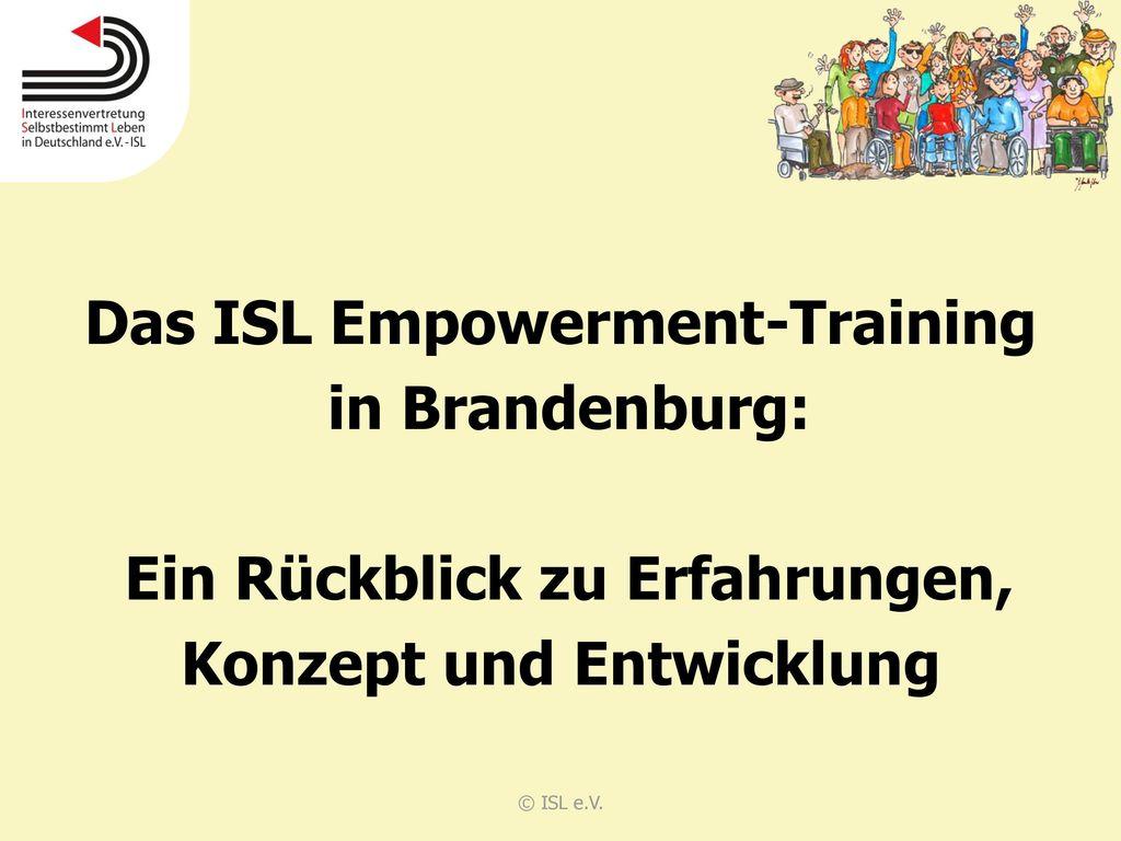Das ISL Empowerment-Training in Brandenburg: