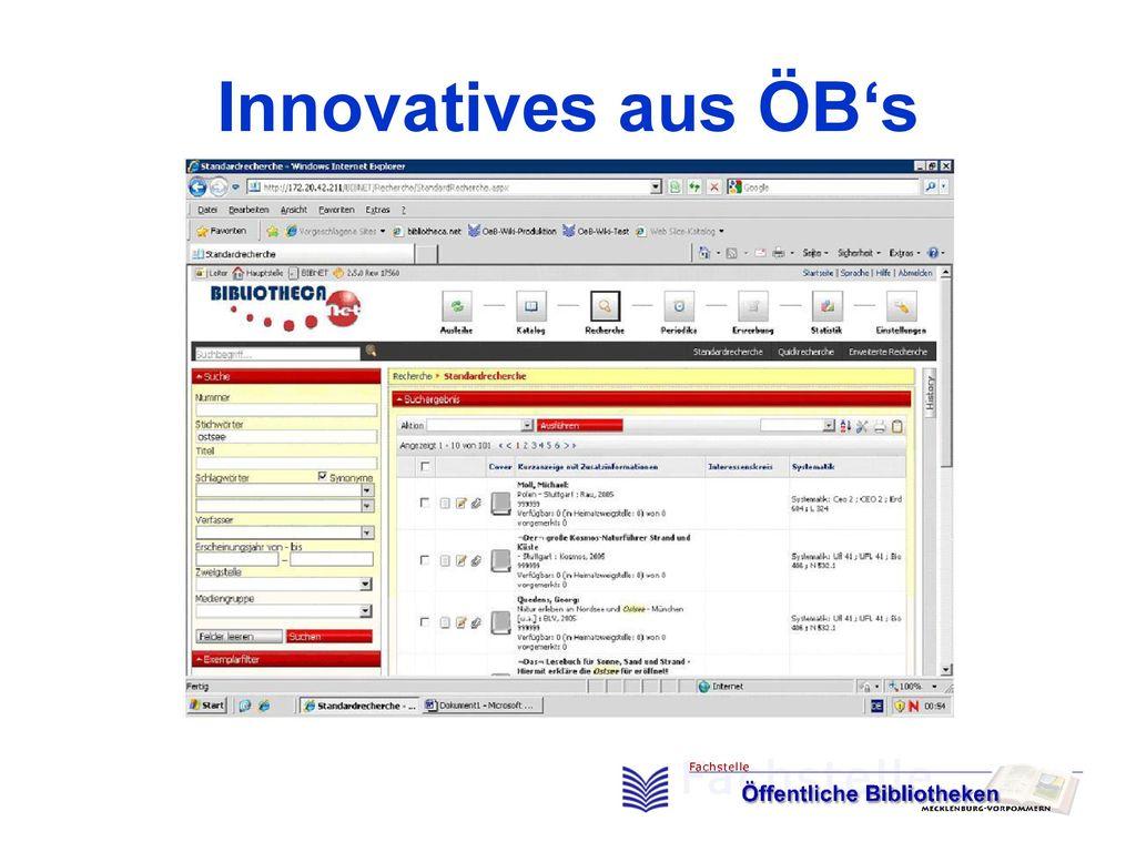 Innovatives aus ÖB's
