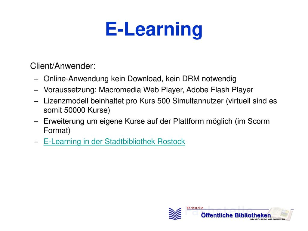 E-Learning Client/Anwender: