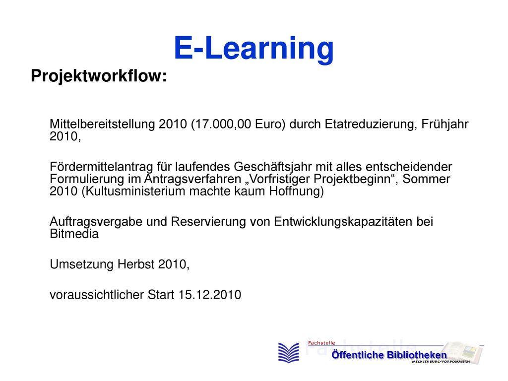 E-Learning Projektworkflow: