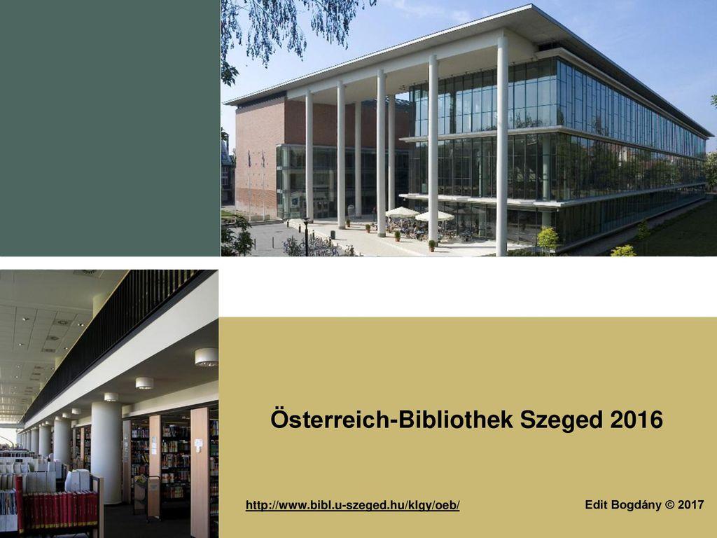 Österreich-Bibliothek Szeged 2016