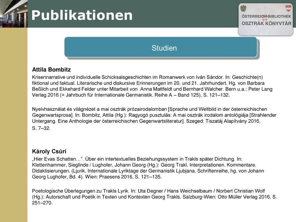 Publikationen Attila Bombitz Károly Csúri