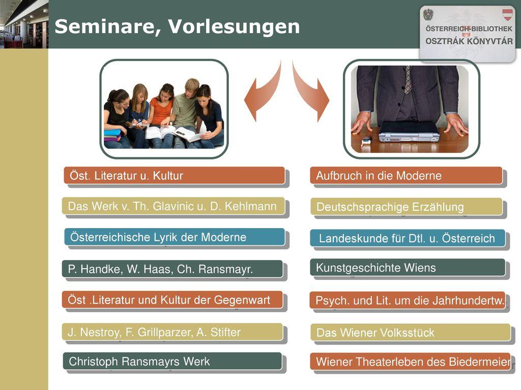 Seminare, Vorlesungen Öst. Literatur u. Kultur Aufbruch in die Moderne