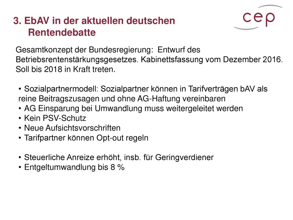 3. EbAV in der aktuellen deutschen Rentendebatte