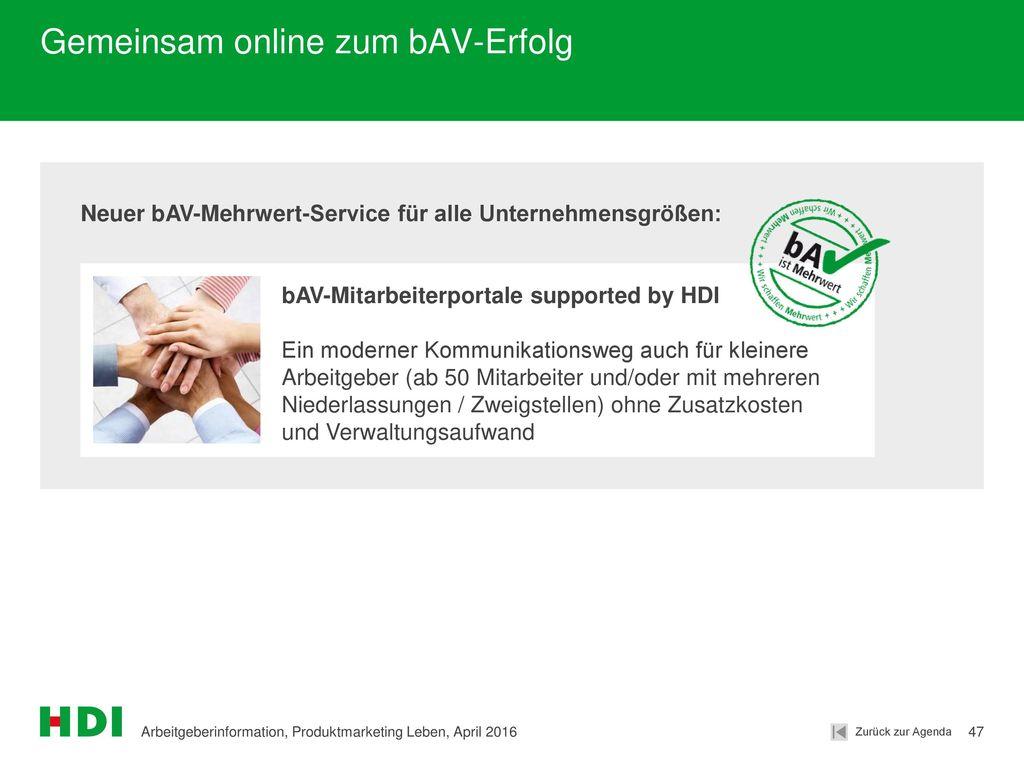 Gemeinsam online zum bAV-Erfolg
