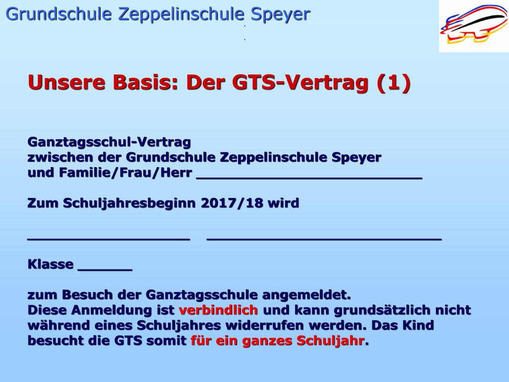 Unsere Basis: Der GTS-Vertrag (1)