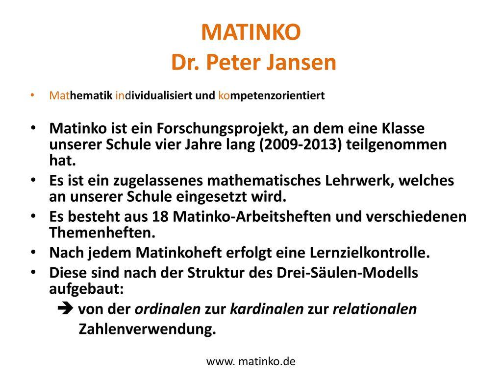 MATINKO Dr. Peter Jansen