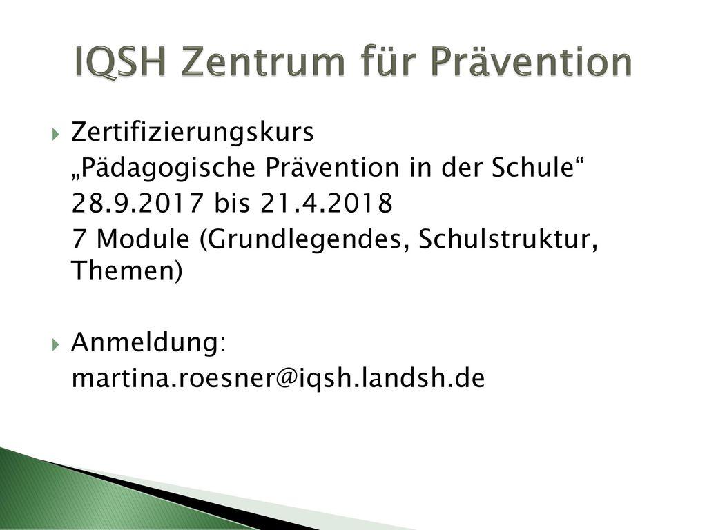 IQSH Zentrum für Prävention
