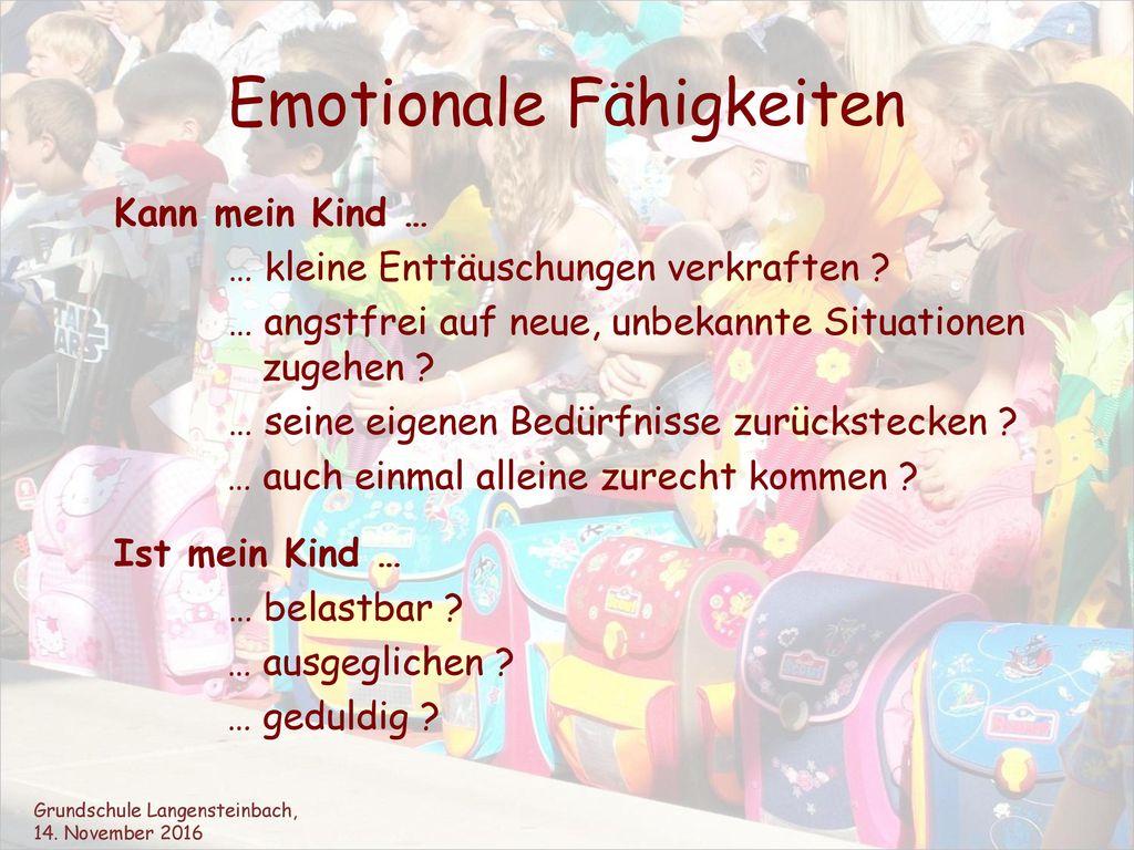 Emotionale Fähigkeiten