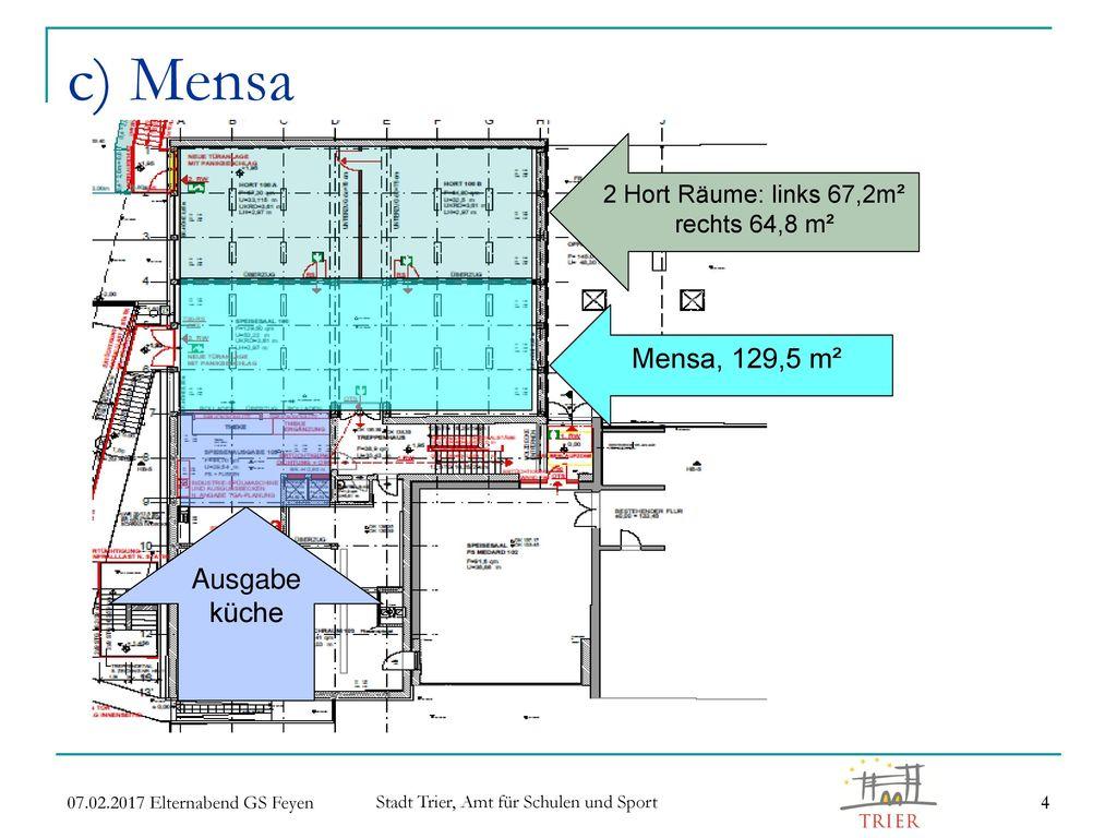 2 Hort Räume: links 67,2m² rechts 64,8 m²