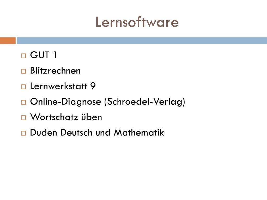 Lernsoftware GUT 1 Blitzrechnen Lernwerkstatt 9