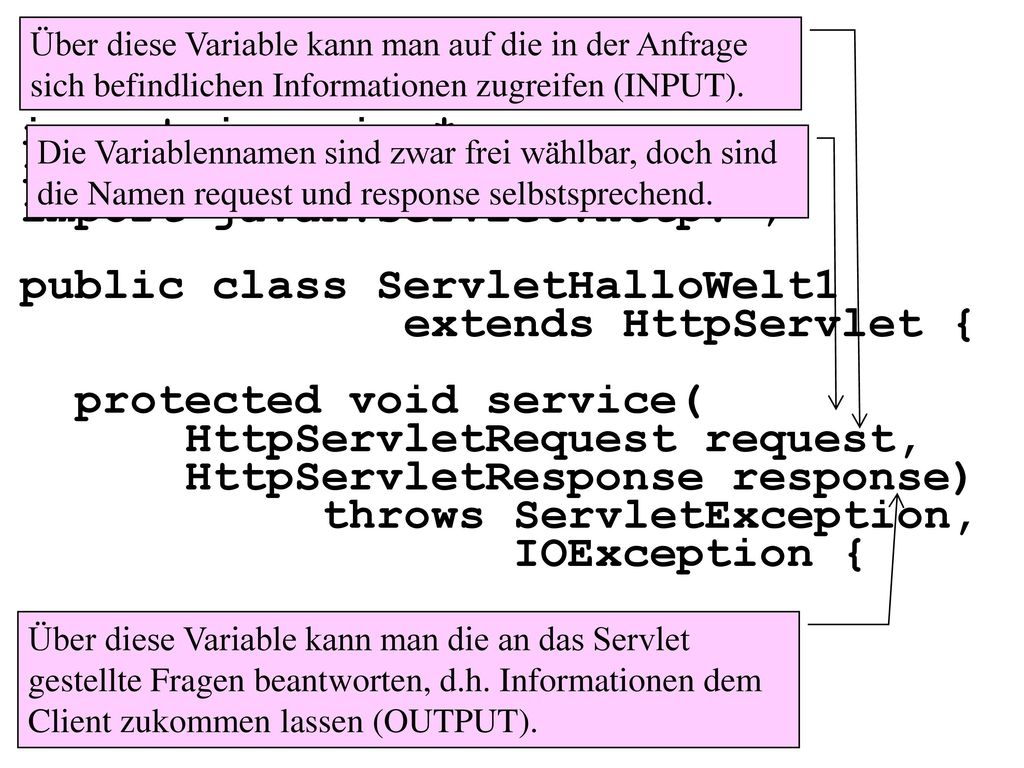 package packageHalloWelt1; import java.io.*; import javax.servlet.*;