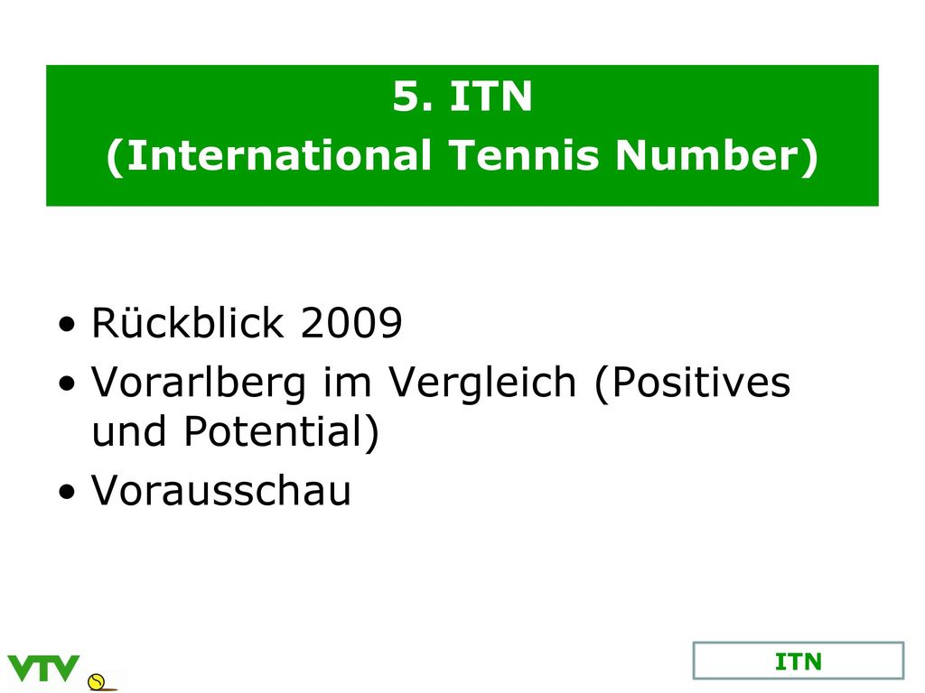 (International Tennis Number)