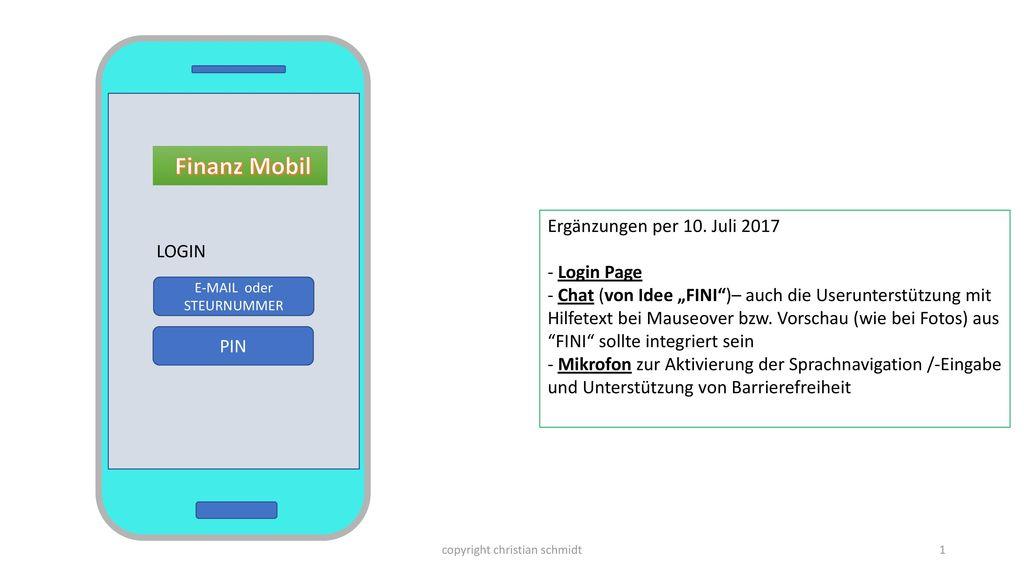 Finanz Mobil Ergänzungen per 10. Juli 2017 LOGIN - Login Page