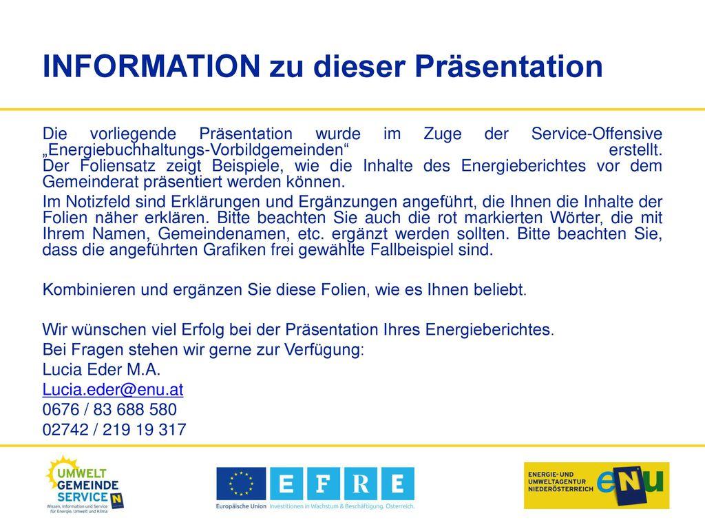 INFORMATION zu dieser Präsentation