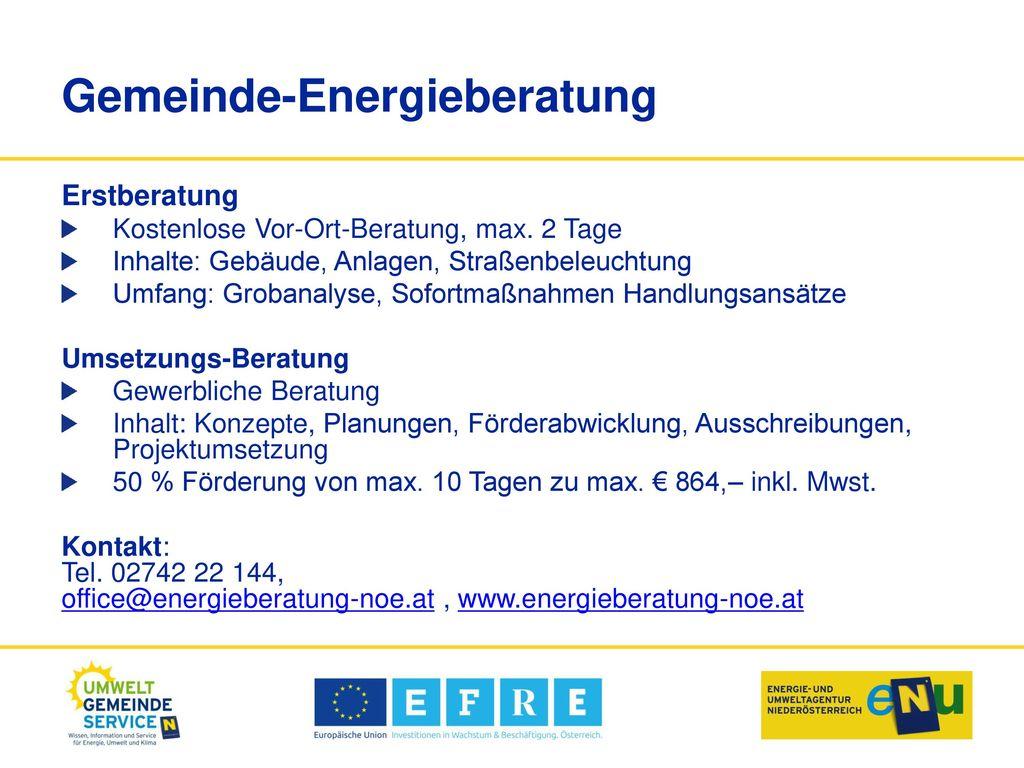 Gemeinde-Energieberatung