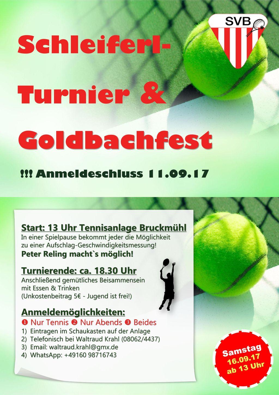 Schleiferl-Turnier & Goldbachfest !!! Anmeldeschluss 11.09.17