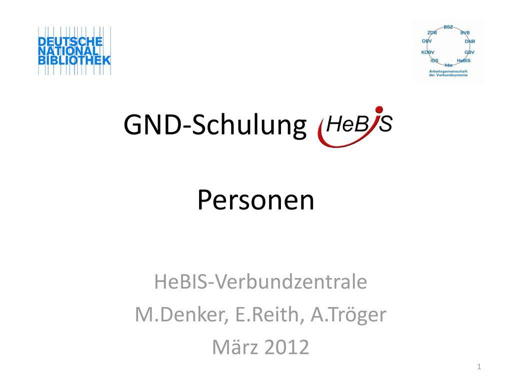 GND-Schulung HeBIS Personen