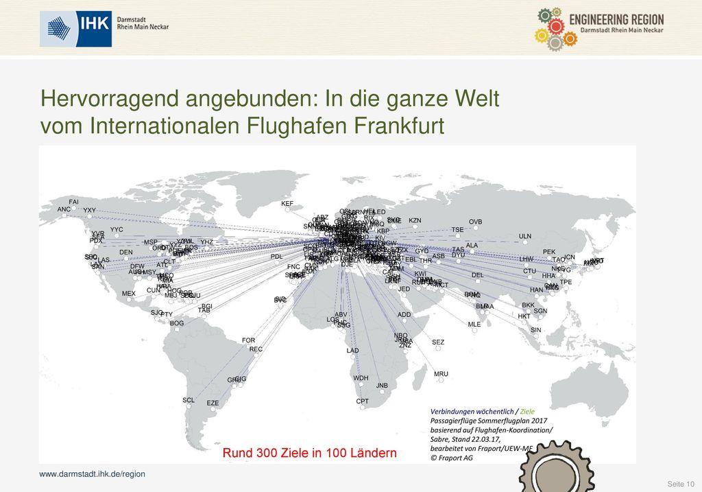 Hervorragend angebunden: In die ganze Welt vom Internationalen Flughafen Frankfurt