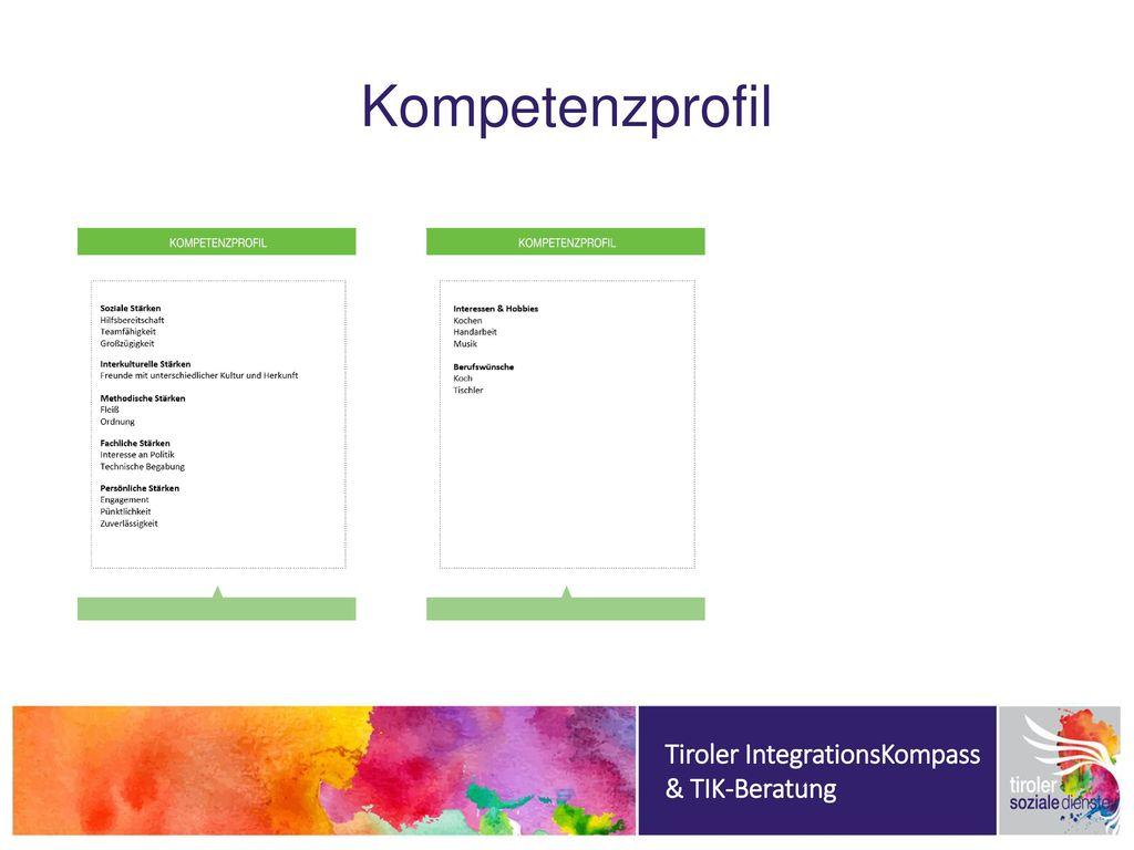 Kompetenzprofil Tiroler IntegrationsKompass & TIK-Beratung