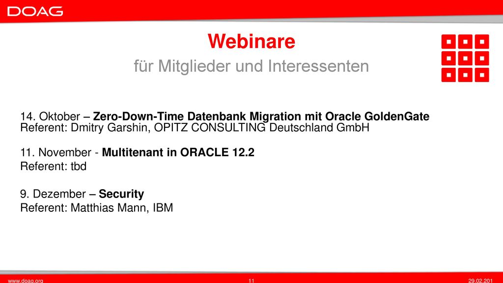 Ihre Datenbank in der ORACLE Cloud