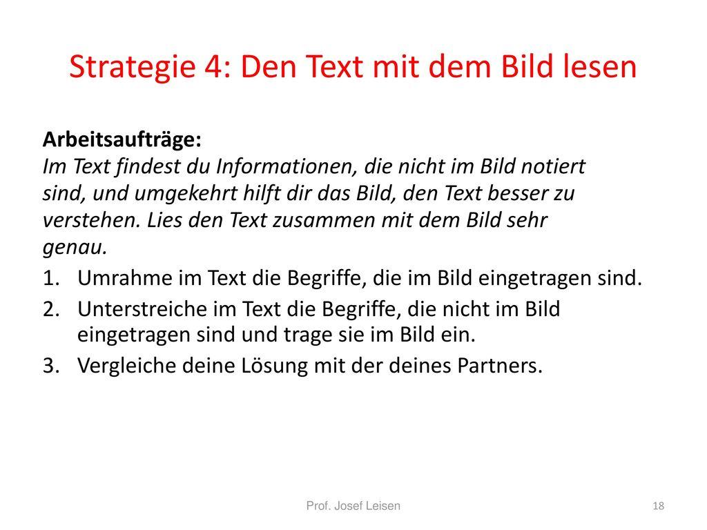 Strategie 4: Den Text mit dem Bild lesen