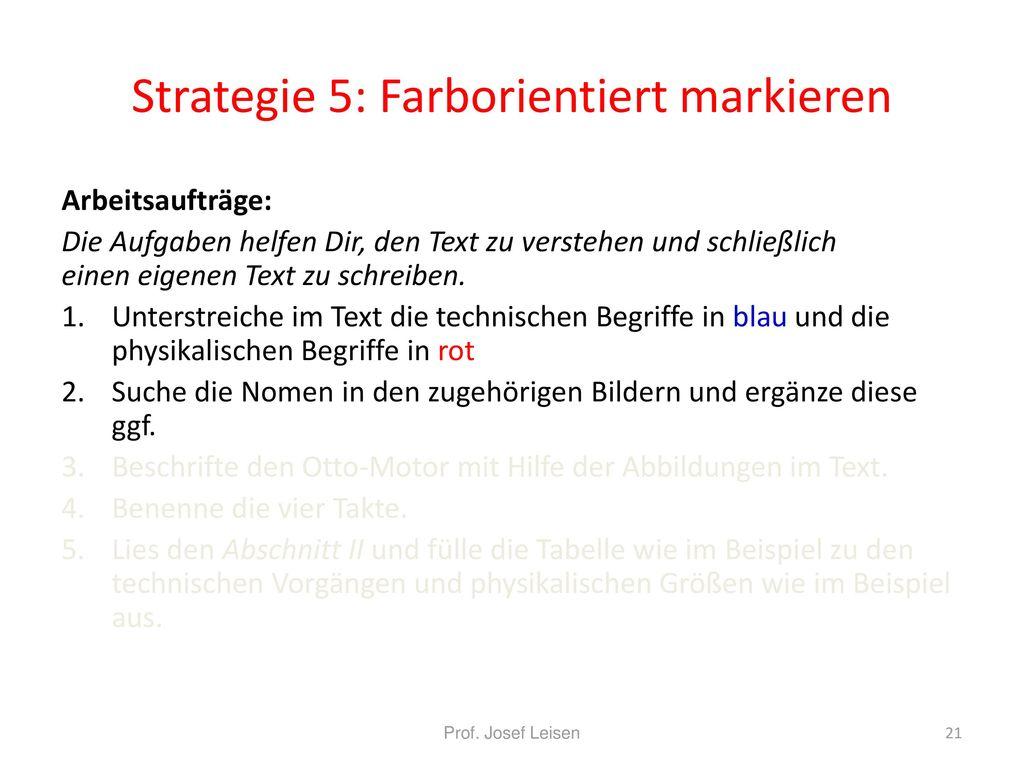 Strategie 5: Farborientiert markieren