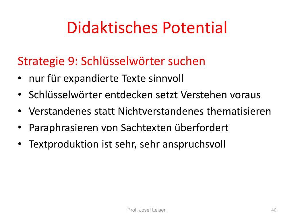 Didaktisches Potential
