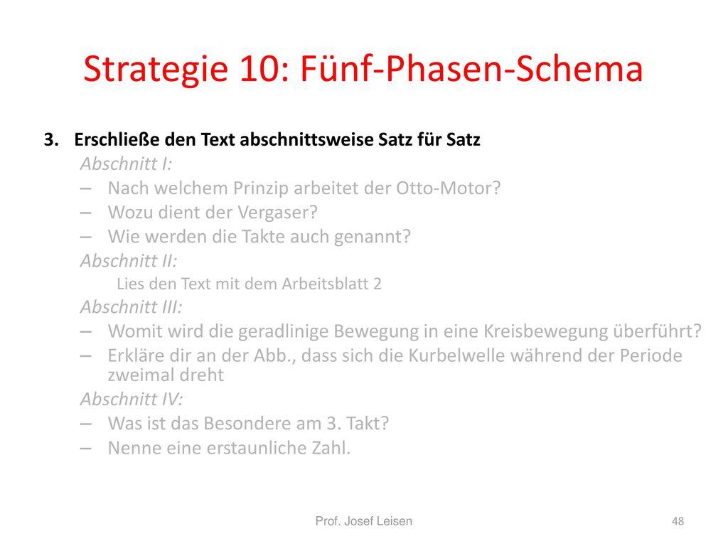 Strategie 10: Fünf-Phasen-Schema