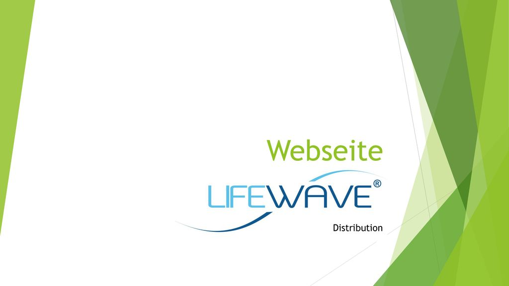 Webseite Lifewave Distributor Distribution