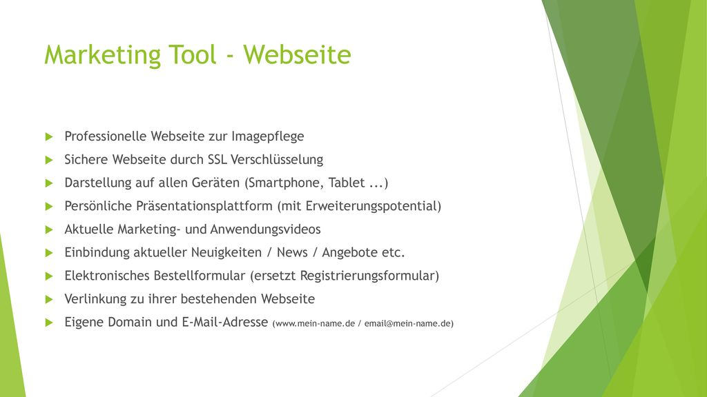 Marketing Tool - Webseite